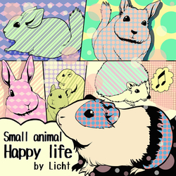 small animal happy life